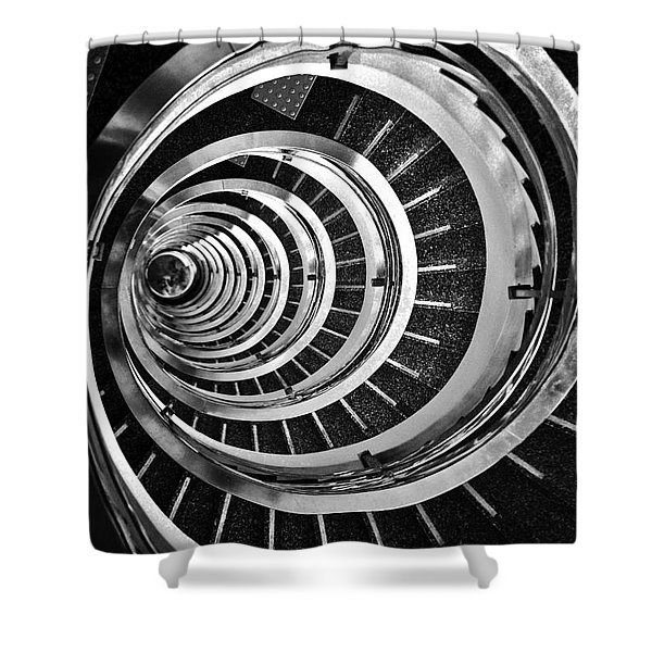 Time Tunnel Spiral Staircase In Sao Paulo Brazil Shower Curtain