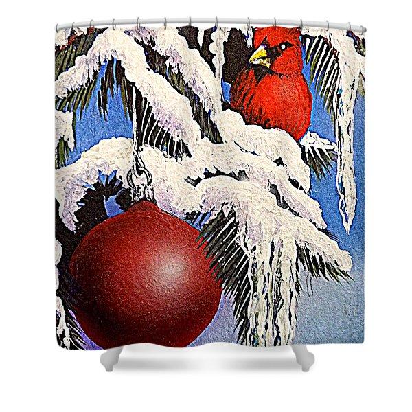 Cardinal One Ball Shower Curtain