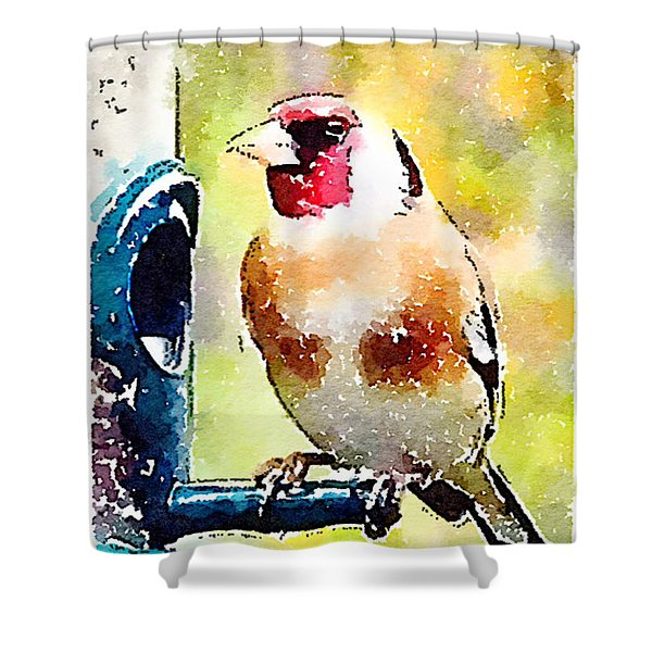 Carduelis Carduelis 'waterfinch' Shower Curtain