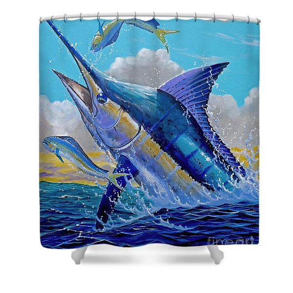 Carib Blue Shower Curtain