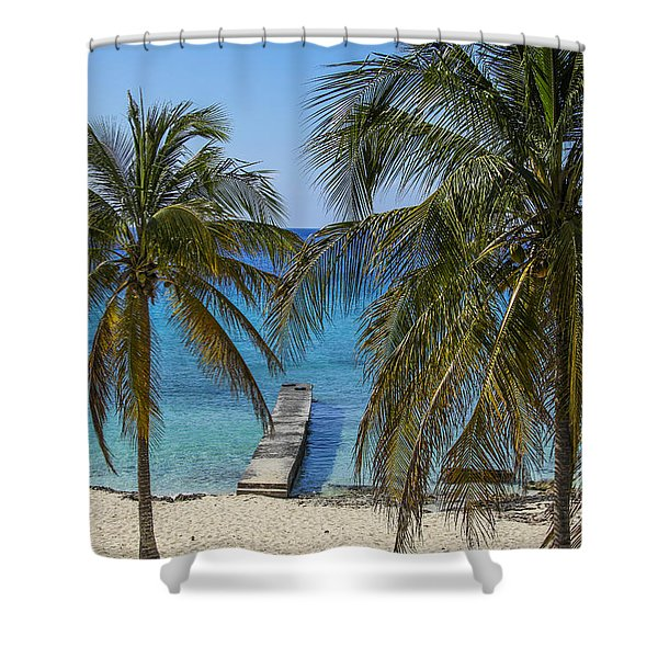 Caribbean Beach Shower Curtain