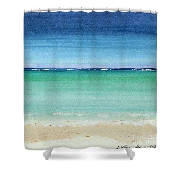 Reaf Ocean Turquoise Waters Square Shower Curtain