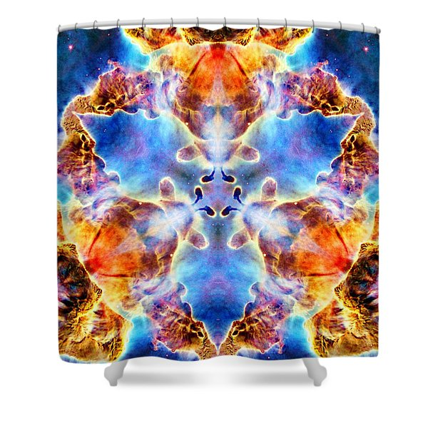 Carina Nebula Vi Shower Curtain