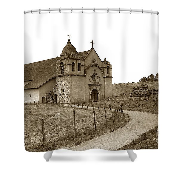 Carmel Mission Monterey Co. California Circa 1890 Shower Curtain