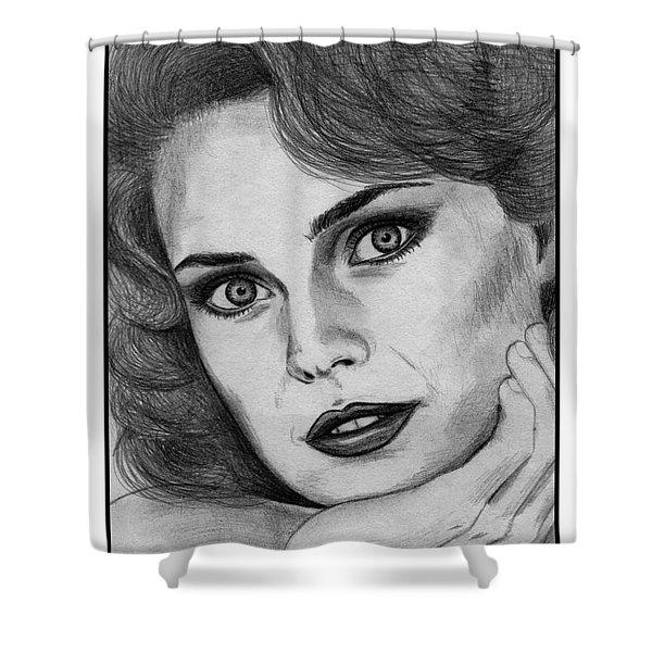 Carol Alt In 1985 Shower Curtain