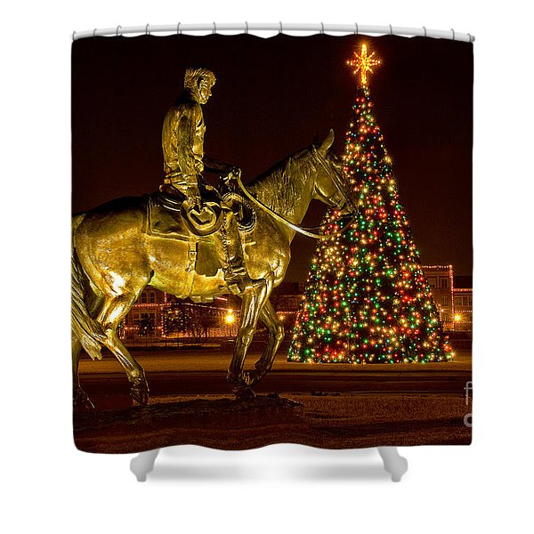 Shower Curtain featuring the photograph Carol Of Lights by Mae Wertz