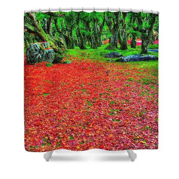 Carpet Of Love Shower Curtain