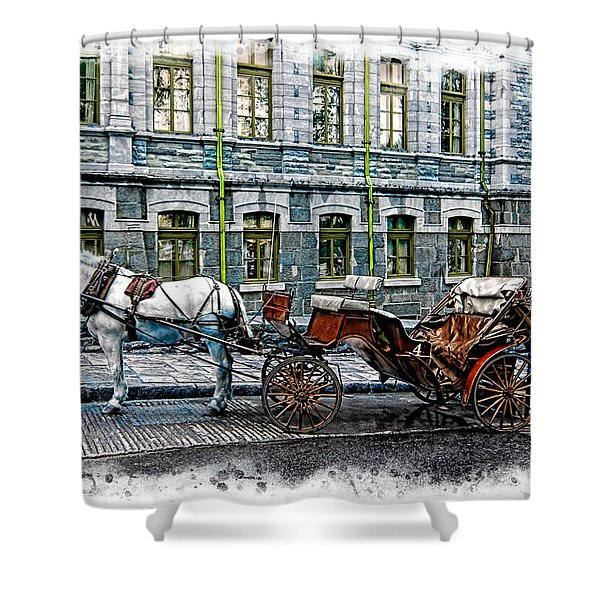 Carriage Rides Series 06 Shower Curtain