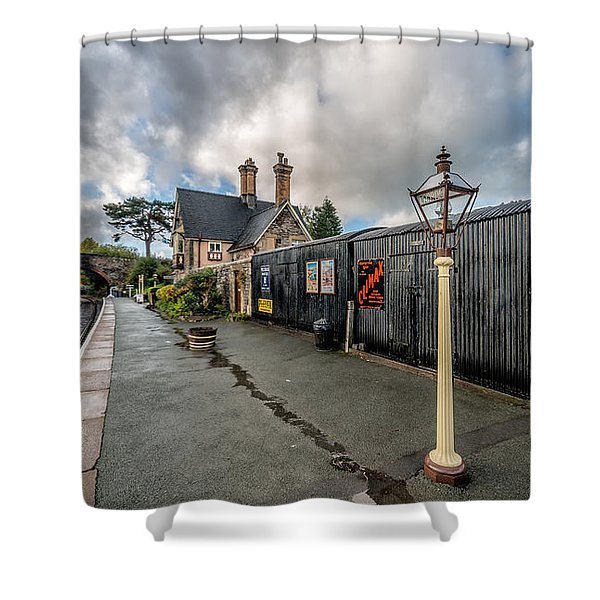Carrog Railway Station Shower Curtain