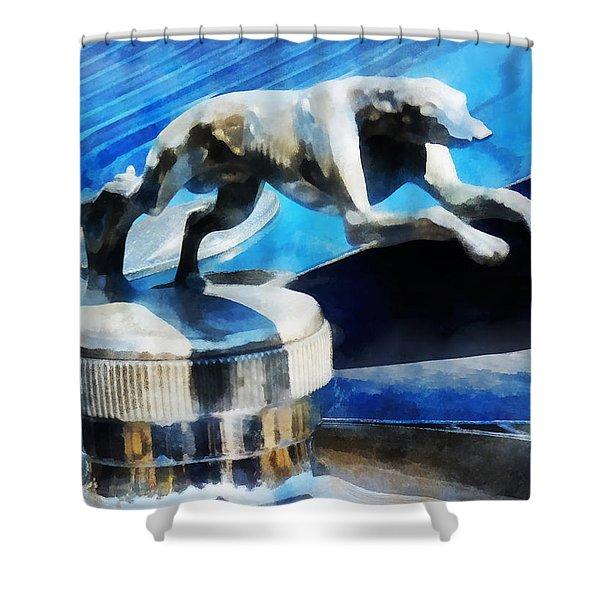 Cars - Lincoln Greyhound Hood Ornament Shower Curtain