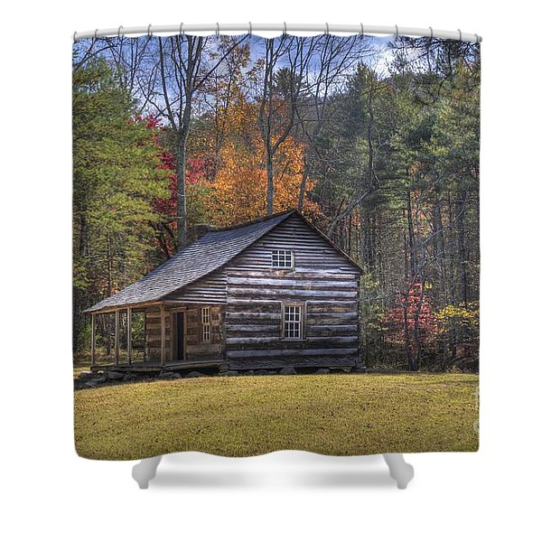 Carter-shields Cabin Shower Curtain