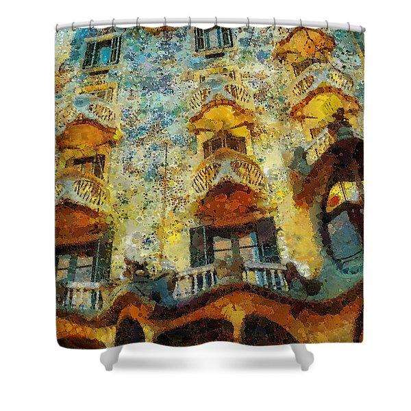 Casa Battlo Shower Curtain