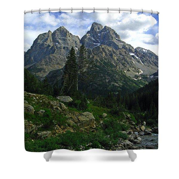 Cascade Creek The Grand Mount Owen Shower Curtain