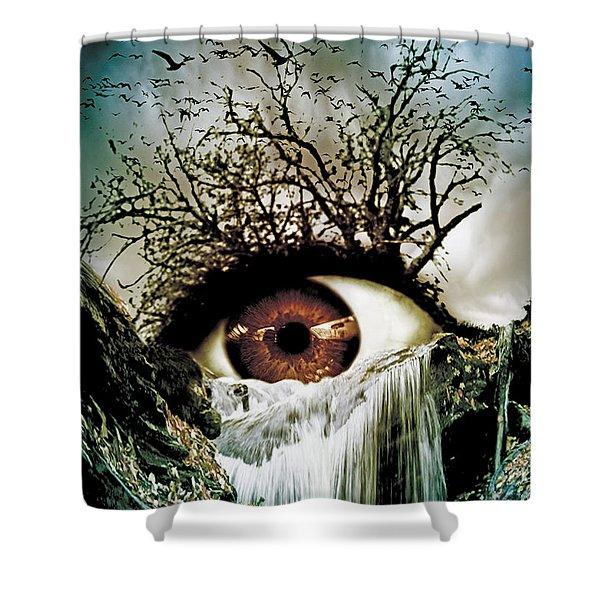 Cascade Crying Eye Shower Curtain