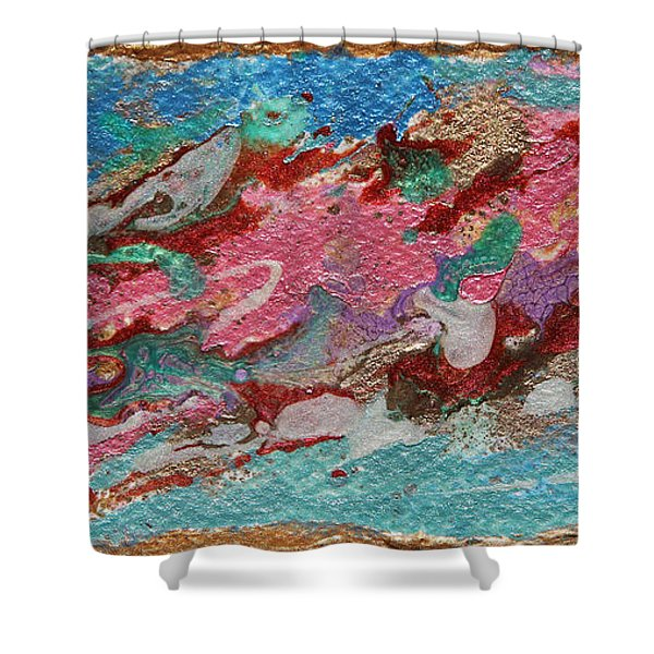 Caspian Sea Abstract Painting Shower Curtain