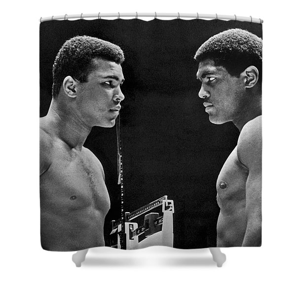Cassius Clay Gives Whammy Eye Shower Curtain