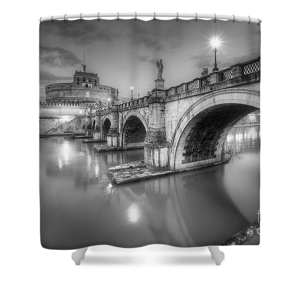 Castel Sant' Angelo Bw Shower Curtain