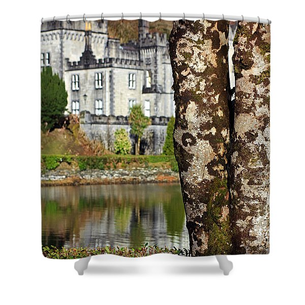 Castle Behind The Trees Shower Curtain