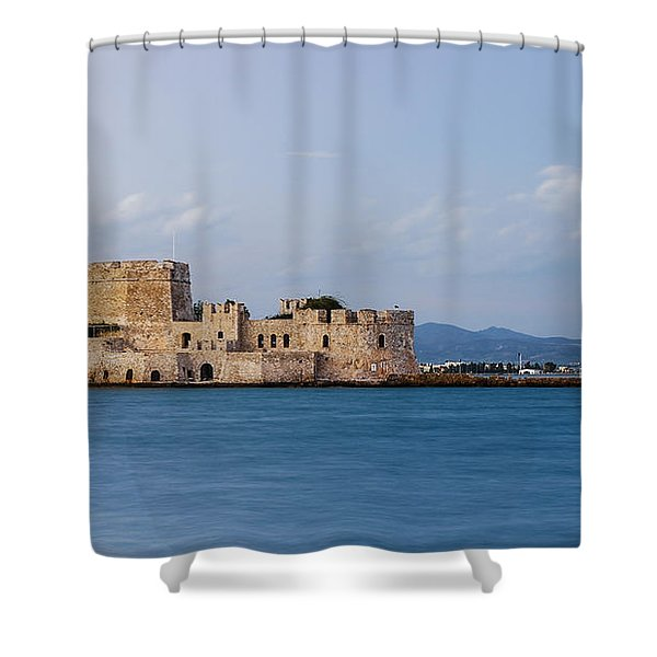 Castle Bourtzi And Buoy Shower Curtain