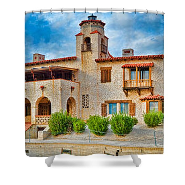 Castle In A Desert, Scottys Castle Shower Curtain