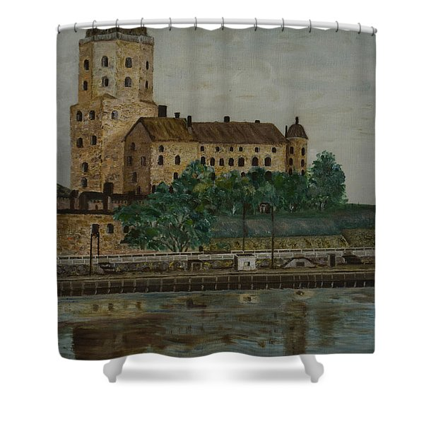Castle Of Vyborg Shower Curtain