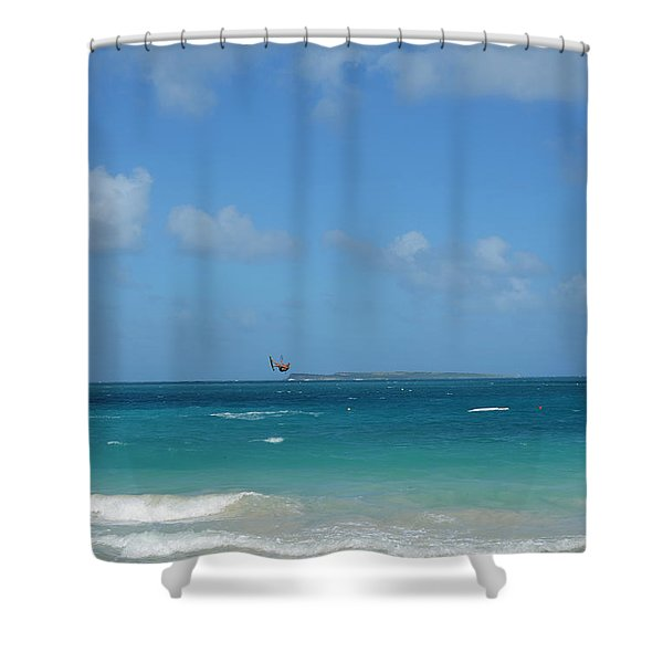 Catching Some Air At Orient Beach In Saint Martin Shower Curtain
