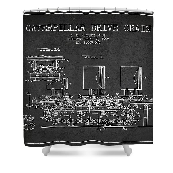 Caterpillar Drive Chain Patent From 1952 Shower Curtain