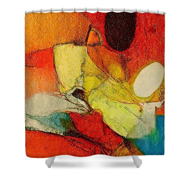 Shower Curtain featuring the drawing Caterpillar  Vision by Cliff Spohn