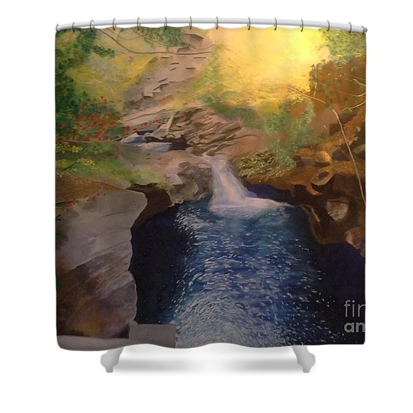 The Dark Gorge Shower Curtain