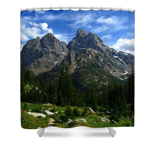 Cathedral Group From The Northwest Shower Curtain