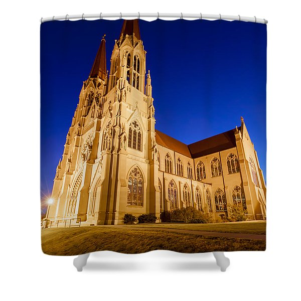 Morning At The Cathedral Of St Helena Shower Curtain