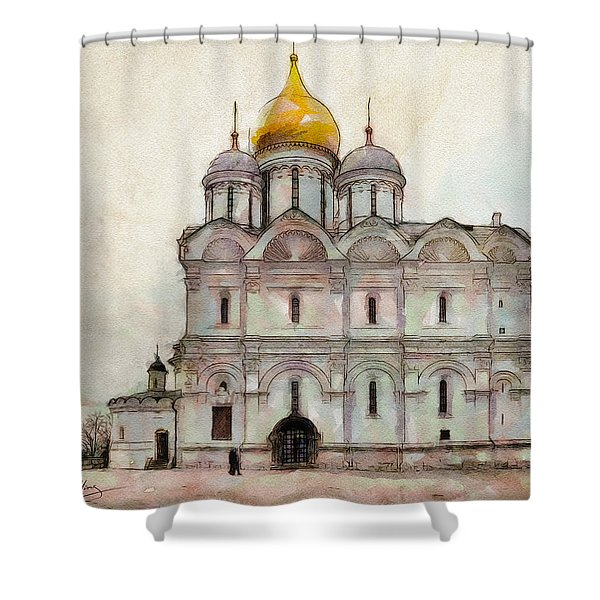 Cathedral Of The Archangel Shower Curtain