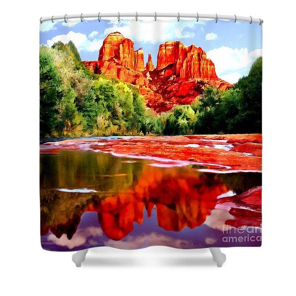 Cathedral Rock Sedona Arizona Shower Curtain