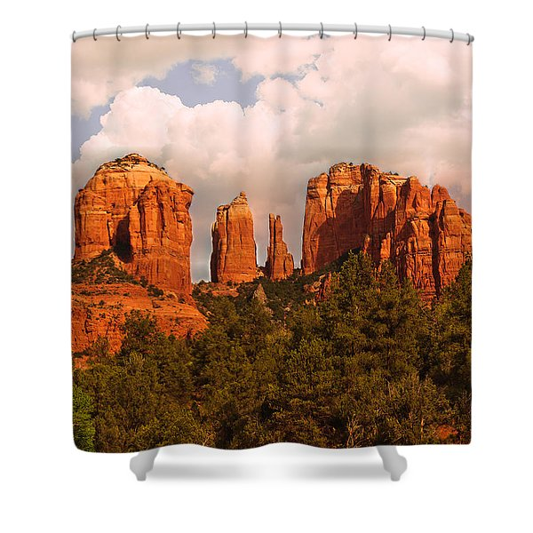 Cathedral Rock Sunset Shower Curtain