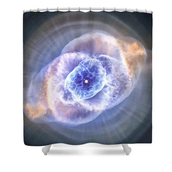 Cat's Eye Nebula Shower Curtain