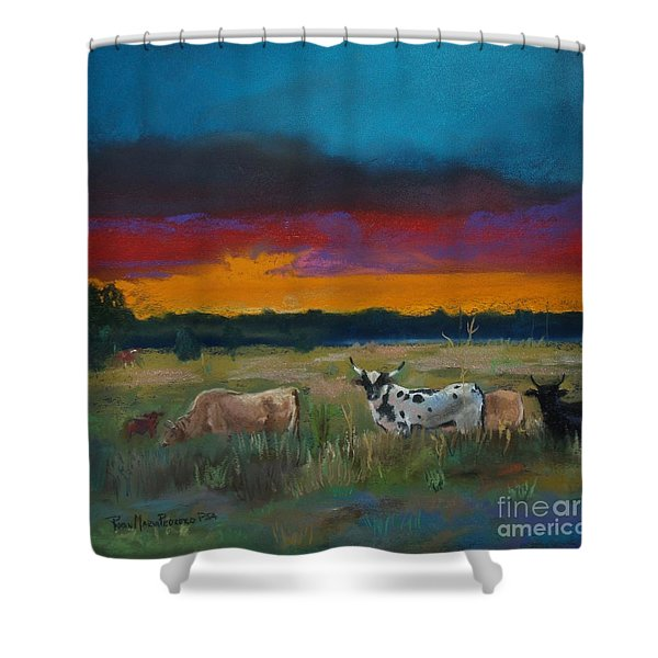 Cattle's Cadence Shower Curtain