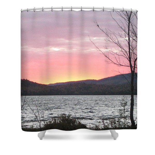 Caucomgomoc Lake Sunset In Maine Shower Curtain