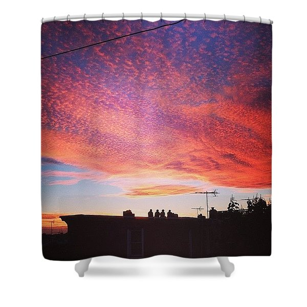 Caught The Neighbors Sunset Gazing Too Shower Curtain