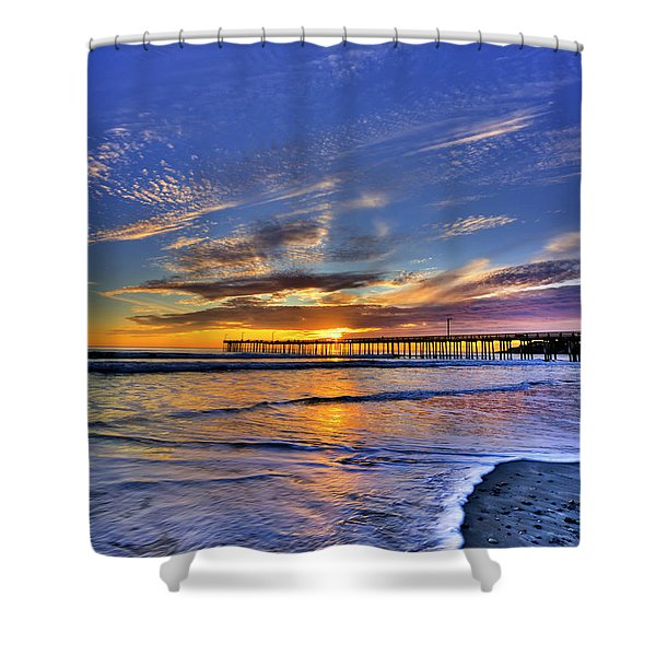 Cayucos Sunset Shower Curtain
