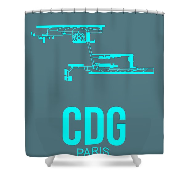 Cdg Paris Airport Poster 1 Shower Curtain