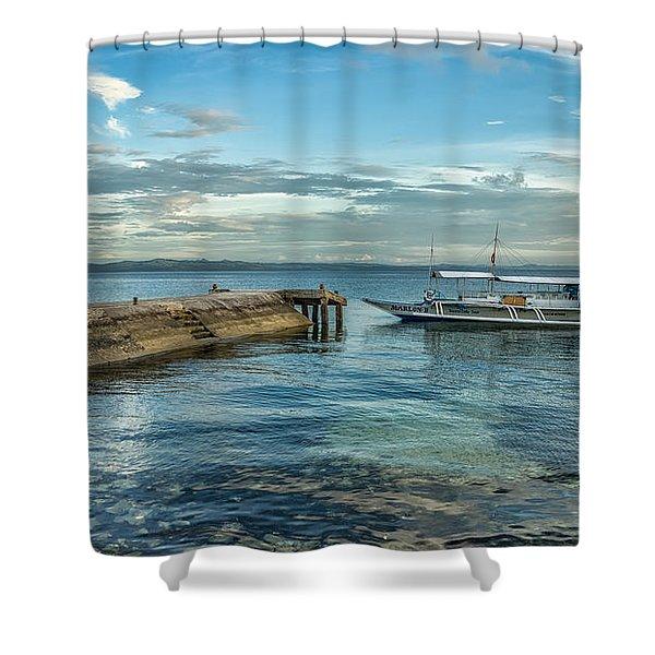Cebu Tour Boat Shower Curtain