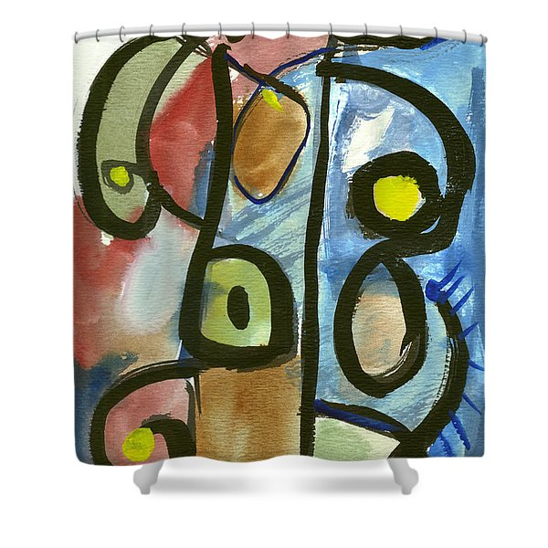 Cello In Blue Shower Curtain