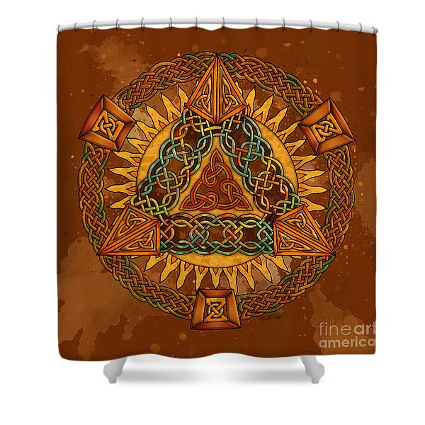 Celtic Pyramid Mandala Shower Curtain