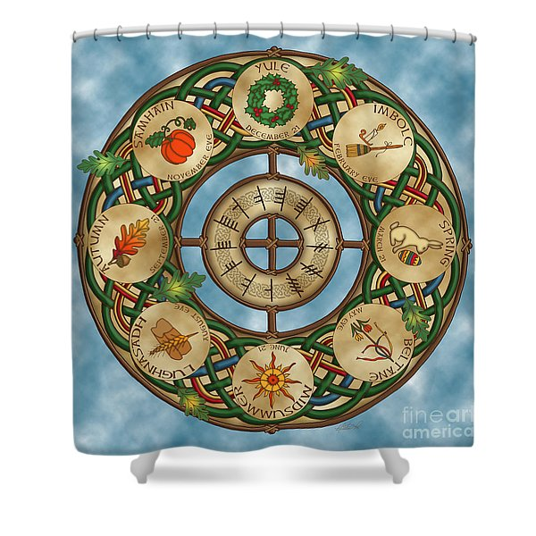 Celtic Wheel Of The Year Shower Curtain