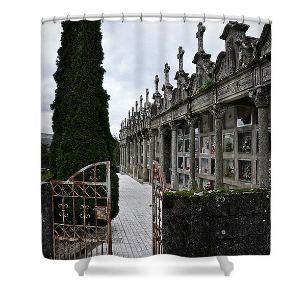 Cemetery In A Small Village In Galicia Shower Curtain