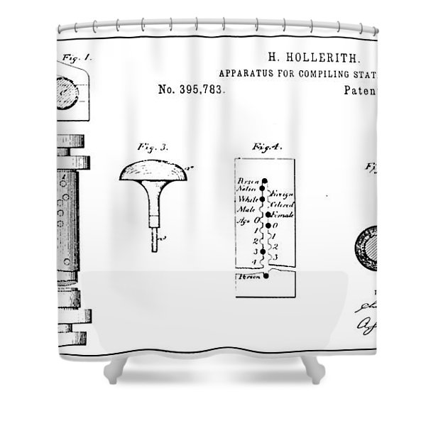 Census Counting Machine Shower Curtain