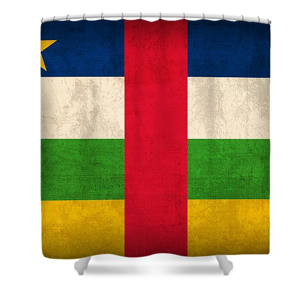 Central African Republic Flag Vintage Distressed Finish Shower Curtain
