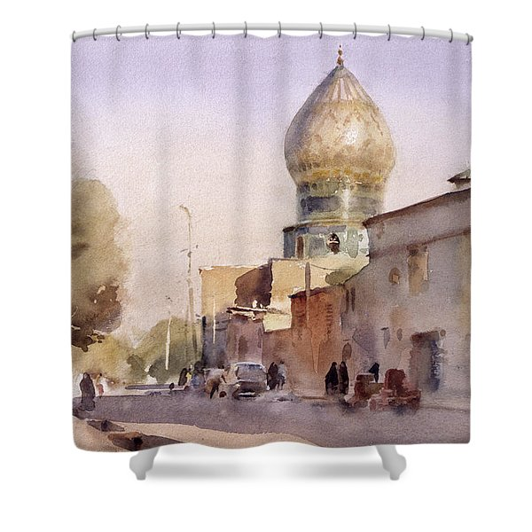 Ceramic Reflection, Shiraz, 1994 Wc On Paper Shower Curtain
