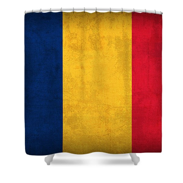 Chad Flag Vintage Distressed Finish Shower Curtain