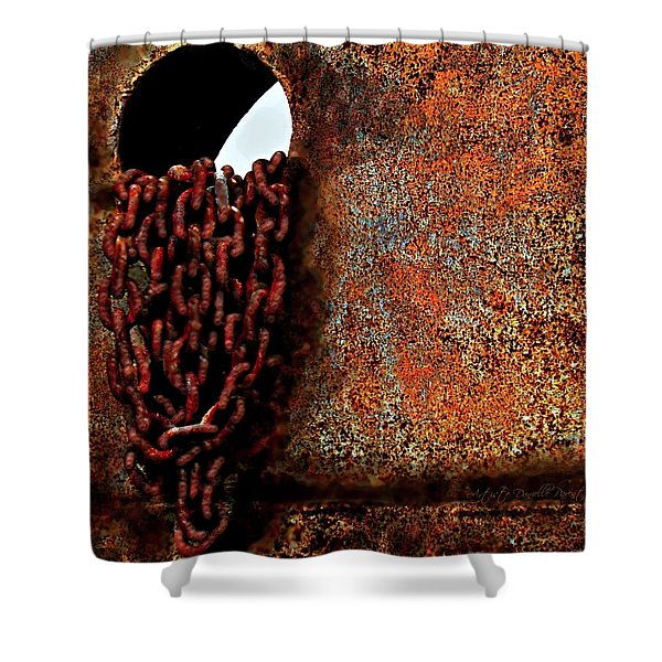 Chained To The Past And Rusted Shower Curtain